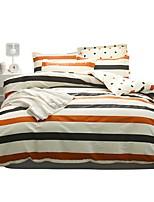 Недорогие -Пододеяльник наборы Stripes / Рябь 100% хлопок С принтом 4 предметаBedding Sets