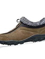Недорогие -Муж. Комфортная обувь Полиуретан Зима На каждый день Мокасины и Свитер Сохраняет тепло Коричневый / Зеленый