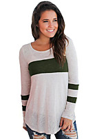 Недорогие -женская футболка - однотонная шея