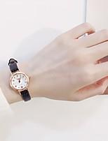 Недорогие -Жен. Нарядные часы Кварцевый Натуральная кожа Материал ремешка Черный / Белый / Хаки Повседневные часы обожаемый Аналоговый Дамы Мода Элегантный стиль - Белый Черный Кофейный