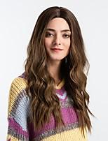 Недорогие -Парики из искусственных волос Жен. Естественные кудри Темно-серый Средняя часть Искусственные волосы 26 дюймовый Модный дизайн / Новое поступление / Волосы с окрашиванием омбре / Коричневый