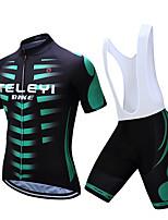Недорогие -TELEYI С короткими рукавами Велокофты и велошорты-комбинезоны - Белый / Черный Велоспорт Разные цвета / Эластичная