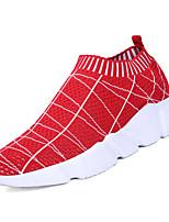 Недорогие -Муж. Комфортная обувь Эластичная ткань / Tissage Volant Весна На каждый день Мокасины и Свитер Нескользкий Контрастных цветов Черный / Красный