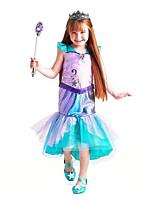 abordables -La Petite Sirène Aqua Princess Costume de Cosplay Fille Enfant Actif Halloween Noël Halloween Carnaval Fête / Célébration Tulle Coton Tenue Vert Sirène