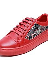 Недорогие -Муж. Комфортная обувь Кожа Весна & осень Кеды Белый / Черный / Красный