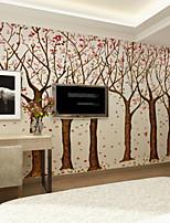abordables -fond d'écran / Mural Toile Revêtement - adhésif requis arbres / Feuilles / Motif / 3D