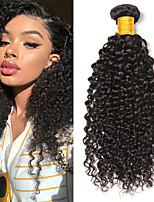 Недорогие -6 Связок Бразильские волосы Монгольские волосы Kinky Curly 8A Натуральные волосы Необработанные натуральные волосы Подарки Косплей Костюмы Головные уборы 8-28 дюймовый Естественный цвет