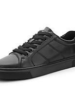 Недорогие -Муж. Кожаные ботинки Наппа Leather Весна & осень Спортивные / На каждый день Кеды Массаж Черный