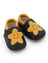Недорогие -Мальчики / Девочки Обувь Кожа Весна & осень Удобная обувь / Обувь для малышей Мокасины и Свитер для Ребёнок до года Черный