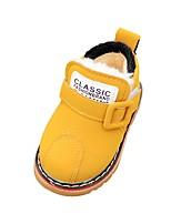Недорогие -Мальчики / Девочки Обувь Микроволокно Зима Обувь для малышей / Зимние сапоги Ботинки для Ребёнок до года Серый / Желтый