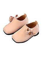 Недорогие -Девочки Обувь Искусственная кожа Весна & осень Обувь для малышей / Детская праздничная обувь Мокасины и Свитер для Дети (1-4 лет) Бежевый / Серый / Розовый