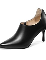 Недорогие -Жен. Наппа Leather Осень Обувь на каблуках На шпильке Черный / Коричневый