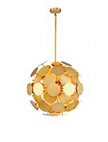 abordables -QIHengZhaoMing 8 lumières Lampe suspendue Lumière d'ambiance Plaqué Métal 110-120V / 220-240V Blanc Crème