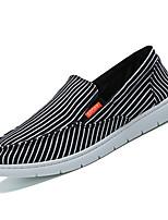Недорогие -Муж. Комфортная обувь Полотно Лето На каждый день Мокасины и Свитер Дышащий Белый / Черный