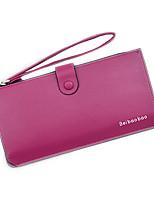 Недорогие -Жен. Мешки PU Бумажники Молнии Сплошной цвет Розовый / Лиловый / Хаки
