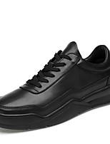 Недорогие -Муж. Комфортная обувь Наппа Leather Наступила зима Классика / Винтаж Кеды Амортизирующий Белый / Черный