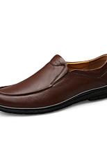 Недорогие -Муж. Комфортная обувь Наппа Leather Наступила зима Классика / Винтаж Кеды Амортизирующий Черный / Темно-коричневый / Для вечеринки / ужина