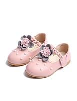 Недорогие -Девочки Обувь Искусственная кожа Весна & осень Удобная обувь / Детская праздничная обувь На плокой подошве для Дети Белый / Розовый