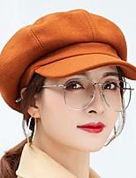 Недорогие -Жен. Активный / Классический Берет / Широкополая шляпа / Кепка-восьмиклинка Однотонный
