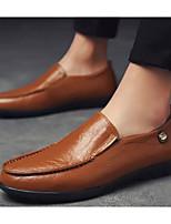 Недорогие -Муж. Комфортная обувь Микроволокно Весна & осень Мокасины и Свитер Черный / Желтый / Темно-коричневый