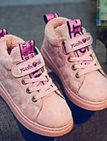 Недорогие -Девочки Обувь Замша Зима Удобная обувь Кеды для Для подростков Черный / Коричневый / Розовый