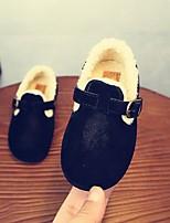 Недорогие -Девочки Обувь Замша Зима Удобная обувь / Детская праздничная обувь На плокой подошве для Дети Черный / Коричневый / Верблюжий