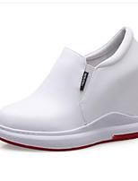 Недорогие -Жен. Наппа Leather Весна Милая / Минимализм Обувь на каблуках Микропоры Заостренный носок Белый / Черный / Серебряный