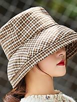 Недорогие -Жен. Активный / Классический Вязаная шапочка / Берет / Широкополая шляпа Гусиная лапка