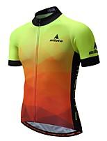 Недорогие -Miloto Муж. С короткими рукавами Велокофты - светящийся Велоспорт Джерси 100% полиэстер / Эластичная