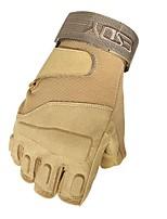 baratos -Meio dedo Homens Motos luvas Pele Anti-desgaste / Antiderrapante