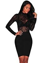 abordables -Femme Body Vêtement de nuit Maille, Couleur Pleine