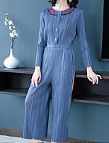 Недорогие -Жен. Повседневные Классический Синий Комбинезоны, Геометрический принт Один размер Длинный рукав