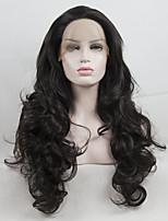 Недорогие -Синтетические кружевные передние парики Жен. Кудрявый Темно-коричневый Свободная часть 180% Человека Плотность волос Искусственные волосы 18-26 дюймовый Регулируется / Жаропрочная / Эластичный