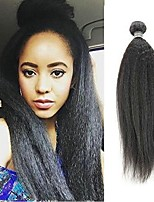 Недорогие -6 Связок Бразильские волосы Малазийские волосы Вытянутые 8A Натуральные волосы Необработанные натуральные волосы Wig Accessories Подарки Косплей Костюмы 8-28 дюймовый Естественный цвет