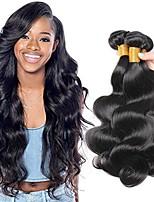 Недорогие -3 Связки Бразильские волосы Индийские волосы Естественные кудри Не подвергавшиеся окрашиванию Необработанные натуральные волосы Подарки Косплей Костюмы Человека ткет Волосы 8-28 дюймовый