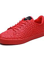Недорогие -Муж. Комфортная обувь Полиуретан Зима На каждый день Кеды Нескользкий Белый / Черный / Красный