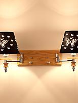 Недорогие -Новый дизайн / обожаемый Простой / Современный современный Настенные светильники / Подголовники Гостиная / Спальня Дерево / бамбук настенный светильник 220-240Вольт 60 W
