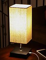 Недорогие -Простой Декоративная Настольная лампа Назначение Спальня Дерево / бамбук 220 Вольт