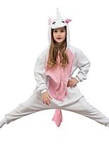 Недорогие -Unicorn Цельные пижамы Флис Розовый Косплей Для Мальчики и девочки Нижнее и ночное белье животных Мультфильм Фестиваль / праздник костюмы