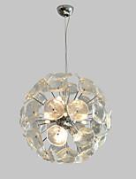 abordables -QIHengZhaoMing 9 lumières Lampe suspendue Lumière d'ambiance Plaqué Métal Verre 110-120V / 220-240V Blanc Crème