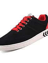 Недорогие -Муж. Комфортная обувь Полиуретан Весна Кеды Черный и золотой / Черно-белый / Черный / Красный