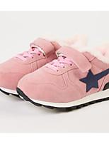 Недорогие -Девочки Обувь Полиуретан Зима Удобная обувь Спортивная обувь Беговая обувь На липучках для Дети Черный / Розовый