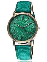 Недорогие -Жен. Наручные часы Кварцевый Черный / Белый / Синий Повседневные часы Аналоговый Дамы Мода Цветной - Красный Зеленый Синий Один год Срок службы батареи / SSUO 377