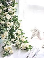Недорогие -Искусственные Цветы 1 Филиал С креплением на стену / подвешенный Свадьба / Пастораль Стиль Розы Цветы на стену