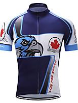 Недорогие -TELEYI Муж. С короткими рукавами Велокофты - Синий / белый Животное Велоспорт Джерси, Быстровысыхающий 100% полиэстер Терилен / Эластичная