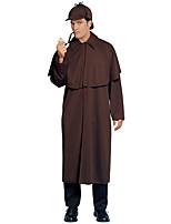 abordables -Sherlock Holmes Manteau Cosplay de Film Café Manteau Noël Halloween Nouvel an Polyester