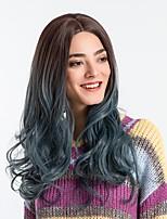 Недорогие -Парики из искусственных волос Жен. Естественные кудри / Блестящий завиток Зеленый Средняя часть Искусственные волосы 22 дюймовый Модный дизайн / Новое поступление / Волосы с окрашиванием омбре