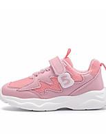 Недорогие -Девочки Обувь Искусственная кожа Осень Удобная обувь Спортивная обувь Шнуровка для Дети Розовый / Контрастных цветов / Резина