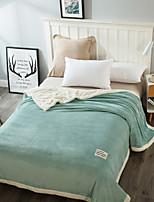baratos -Super Suave, Impressão Reactiva Simples / Côr Sólida / Clássico 100% Micro Fibra / Flanela Tosão / Tecido Felpudo cobertores