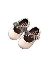 Недорогие -Девочки Обувь Кожа Весна & осень Удобная обувь / Обувь для малышей На плокой подошве для Дети (1-4 лет) Черный / Бежевый / Розовый